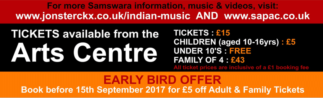 South Asian Performing Arts Centre: Tabla and Sitar at Swindon Arts Centre