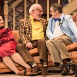 Sarah Earnshaw as Betty, Moray Treadwell as Mr Luscombe & Joe Pasquale as Frank Spencer in Some Mothers Do 'Av 'Em, credit Scott Rylander