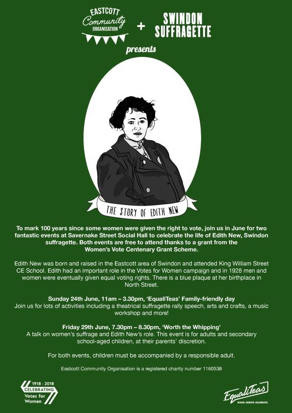 Events: Eastcott Community Organisation Swindon Suffragette Events