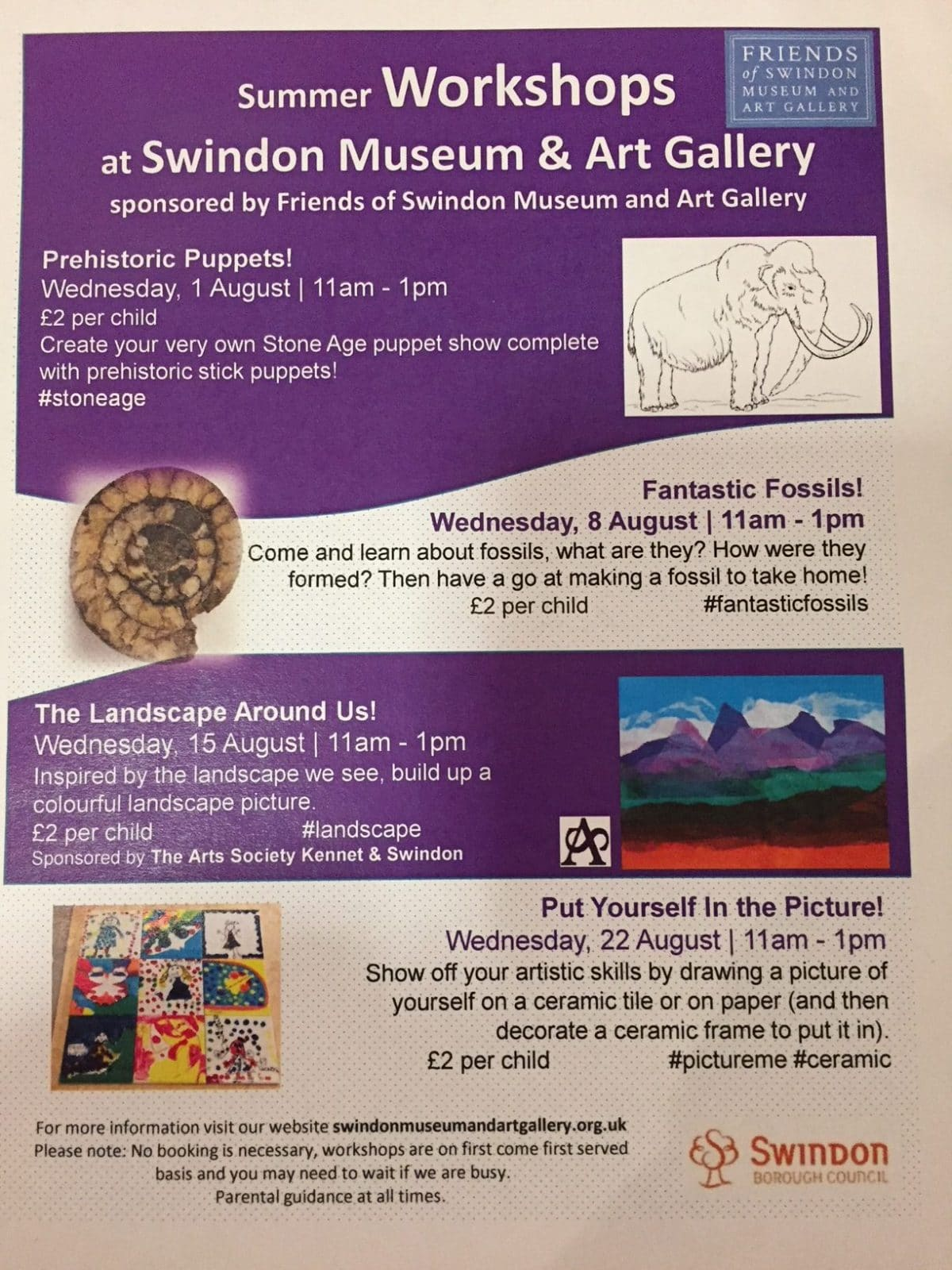 Event: Summer Workshops at Swindon's Museum and Art Gallery