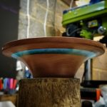 resin inlay bowl made by TK Turns wood turning