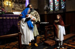 Mary and Joseph and the infant Jesus - The Journey