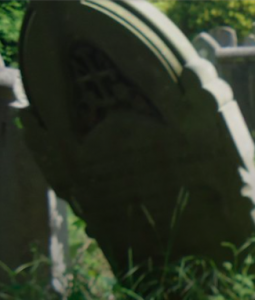 Radnor Street Cemetery blog - image shows a gravestone.