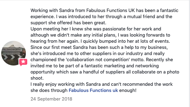 Sandra Trusty: Fabulous Functions UK - review from Faldings Fandangoes