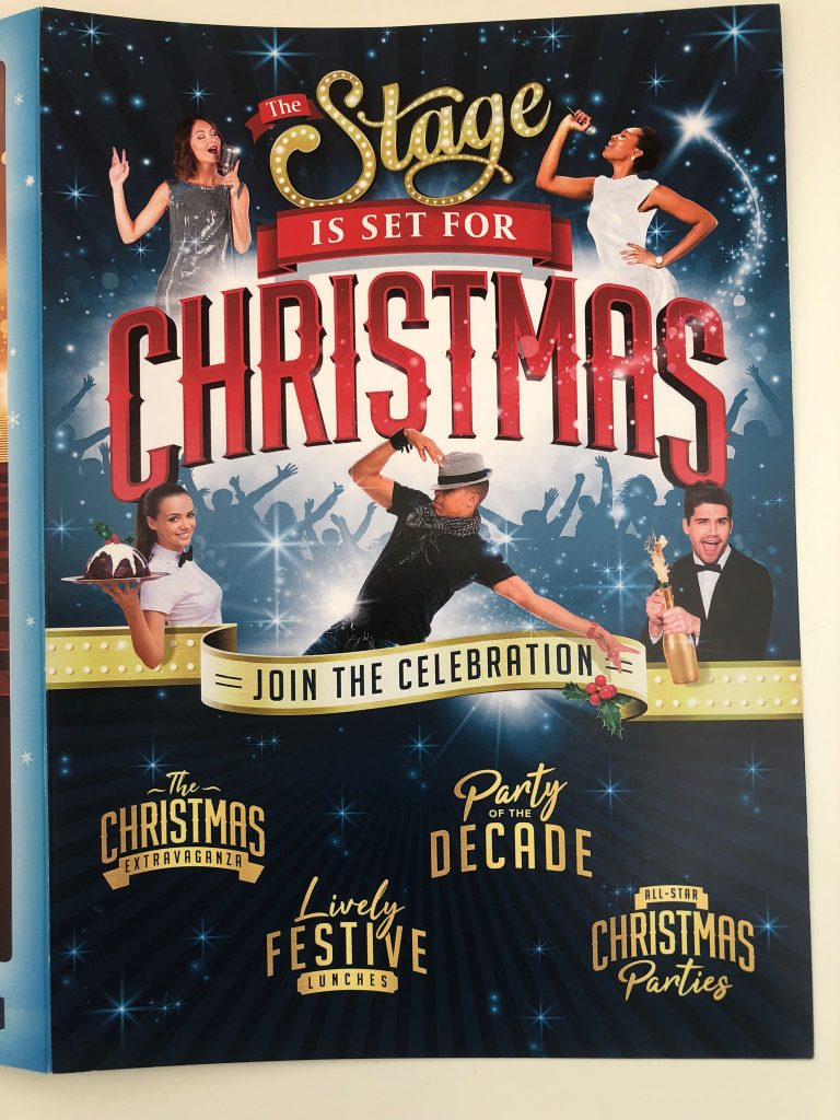 Leaflet/programme for Wyvern Theatre Christmas party.
