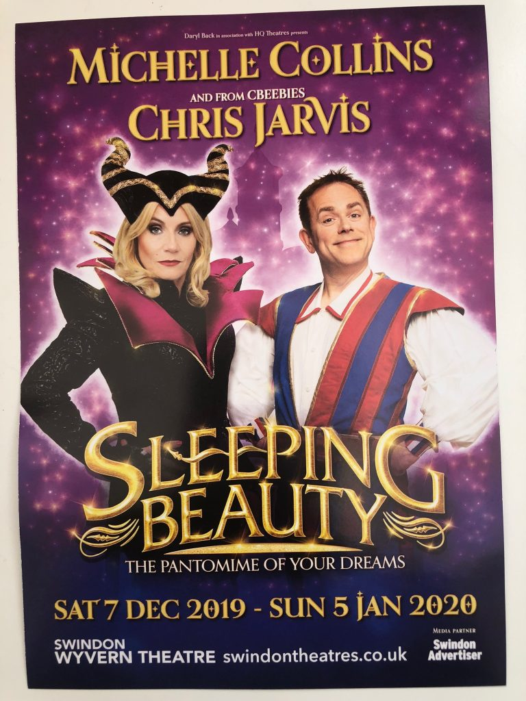 Front of flyer for Wyvern Theatre Christmas pantomime
