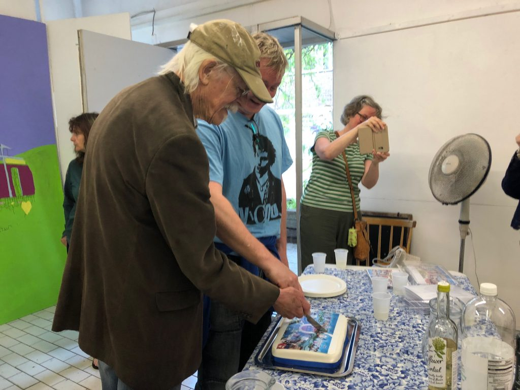 cake cutting for the new artsite mural