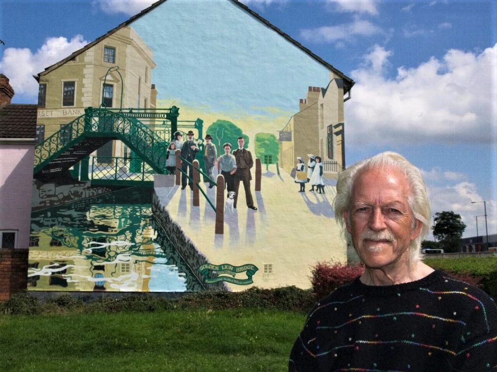 ken white and golden lion mural