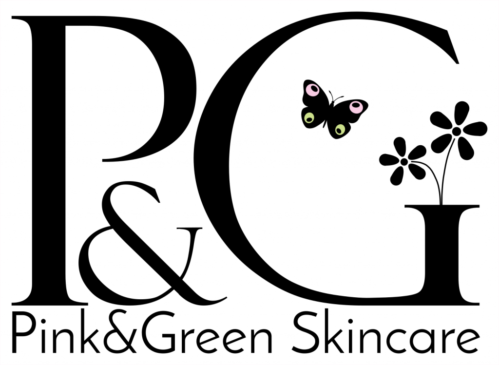 logo pink and green organic skincare