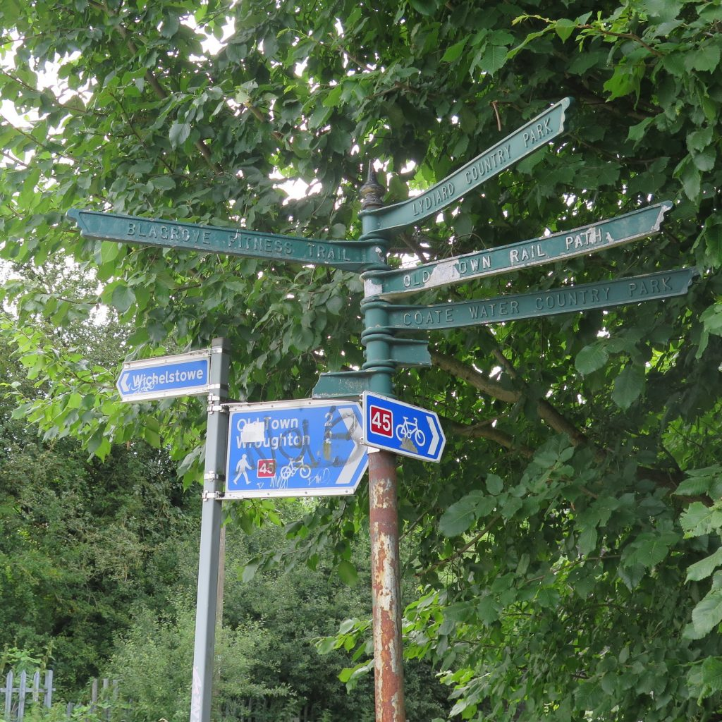 River Ray signpost near Mannington Retail Park