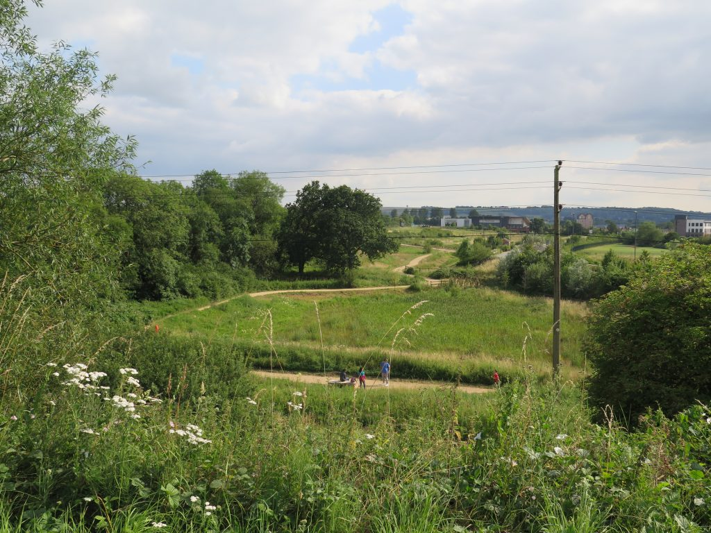 View over the south of Swindon