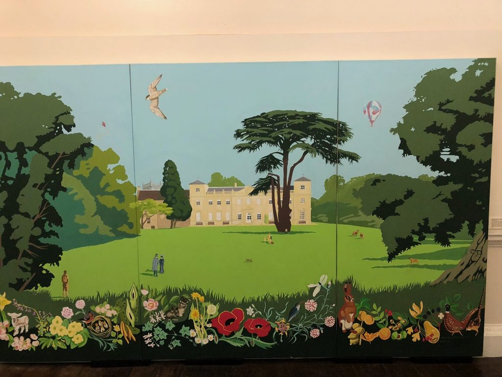 Ken White's tryptych at Lydiard House