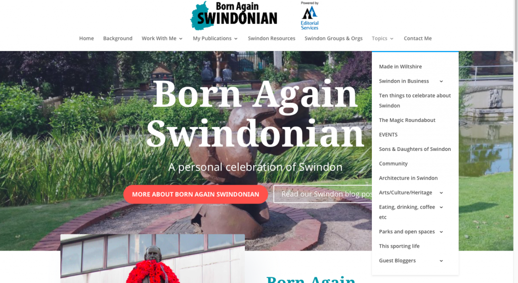 Born again swindonian blog topics
