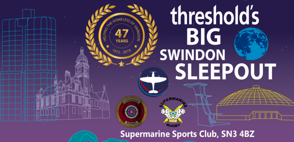 Threshold's BIG Swindon Sleep Out -poster for the sleepout event
