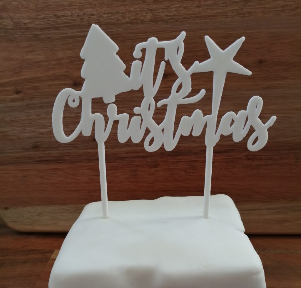3D Printing - SED Developments -Christmas cake topper