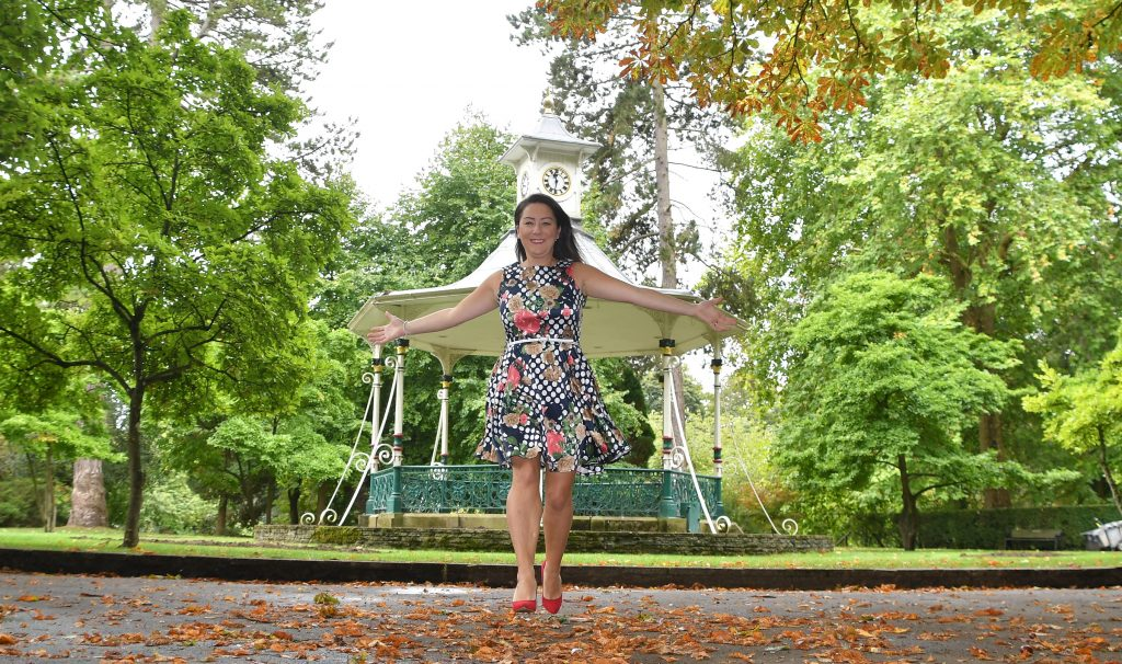 Michelle Jones - We are Swindon in front of the bandstand in Swindon's Town Gardens.