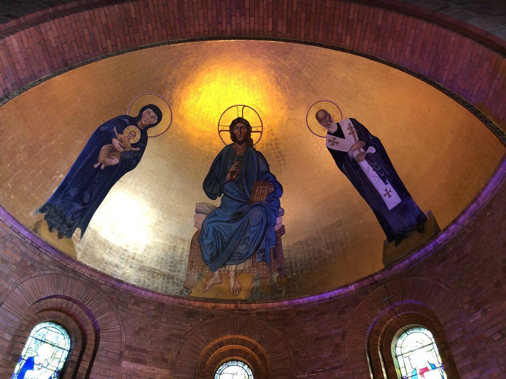 St Augustine's Church Swindon - Byzantine style painting