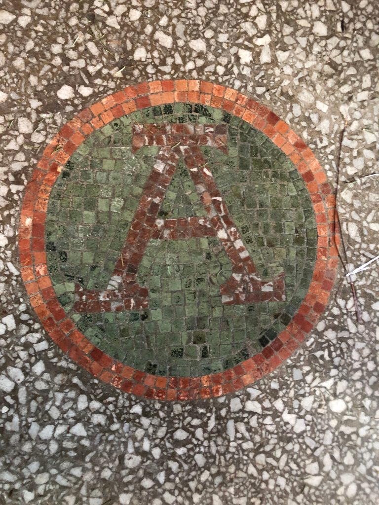 Alpha in mosaic at St Augustine's church swindon