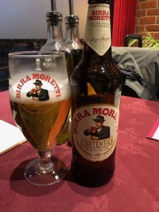 Italian beer - birra Moretti