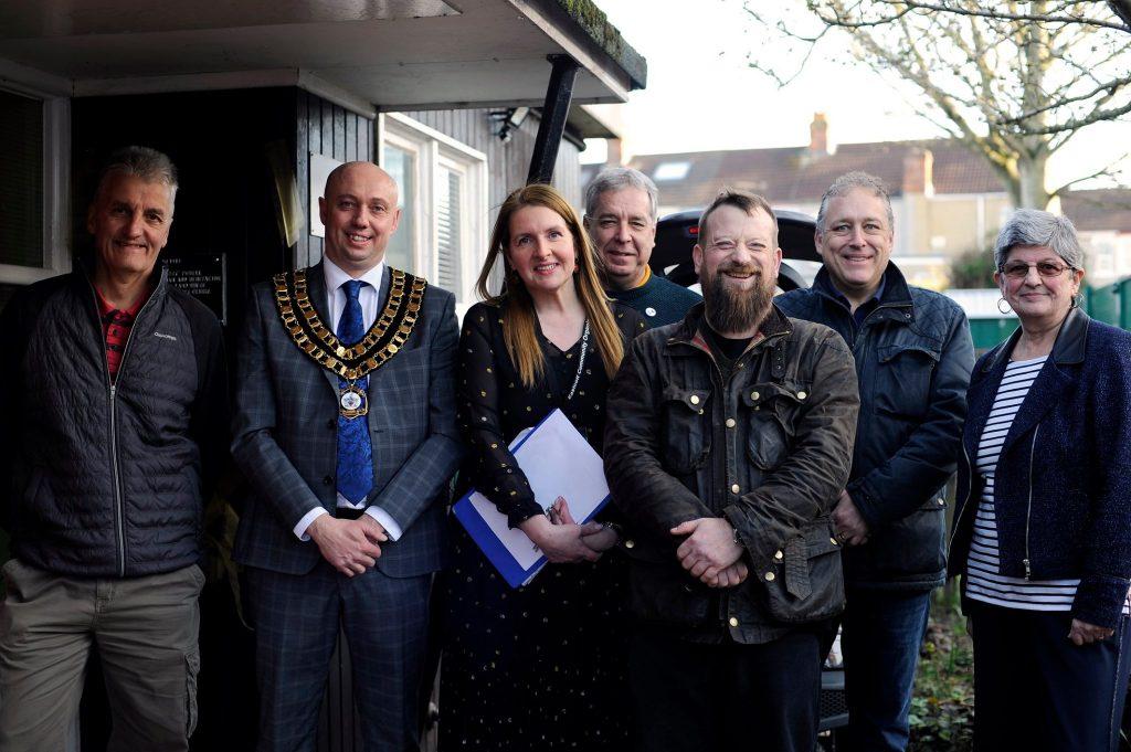 Group photo taken at Eastcott community centre