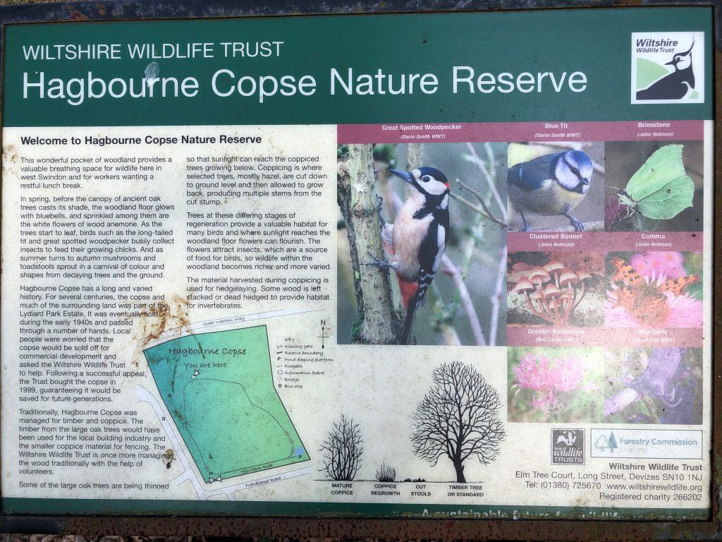 Signage in Hagbourne Copse Nature reserve