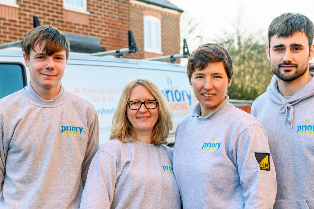 The Priory Heating team - warm-hearted heating engineers