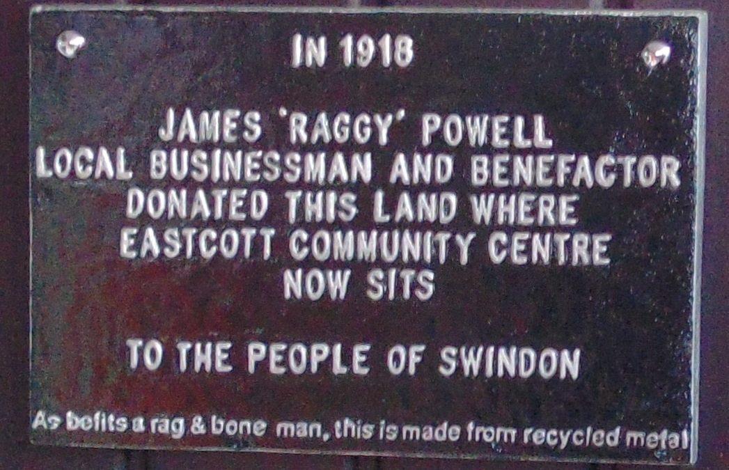 James Raggy Powell Plaque