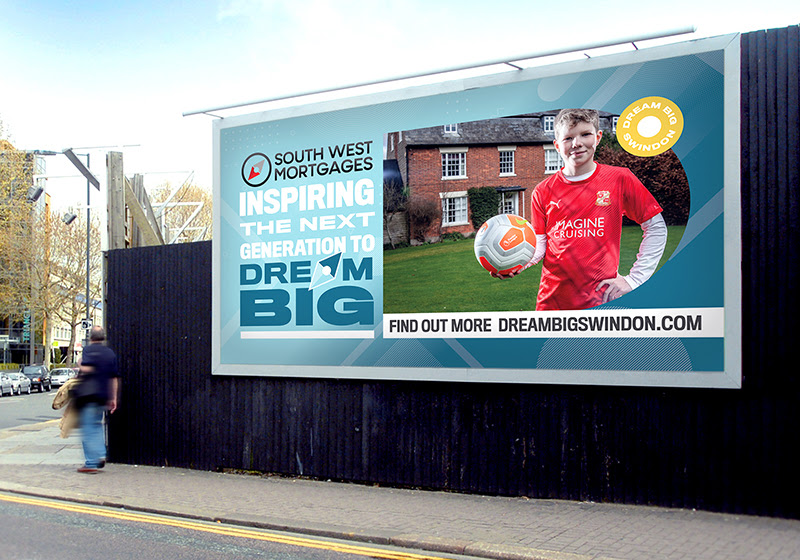 Billboard Opportunity from Mortgage Company - boy with football in front of house