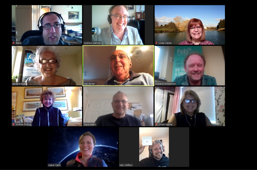 Online club helping businesses weather pandemic  - screenshot of cobra club zoom mtg