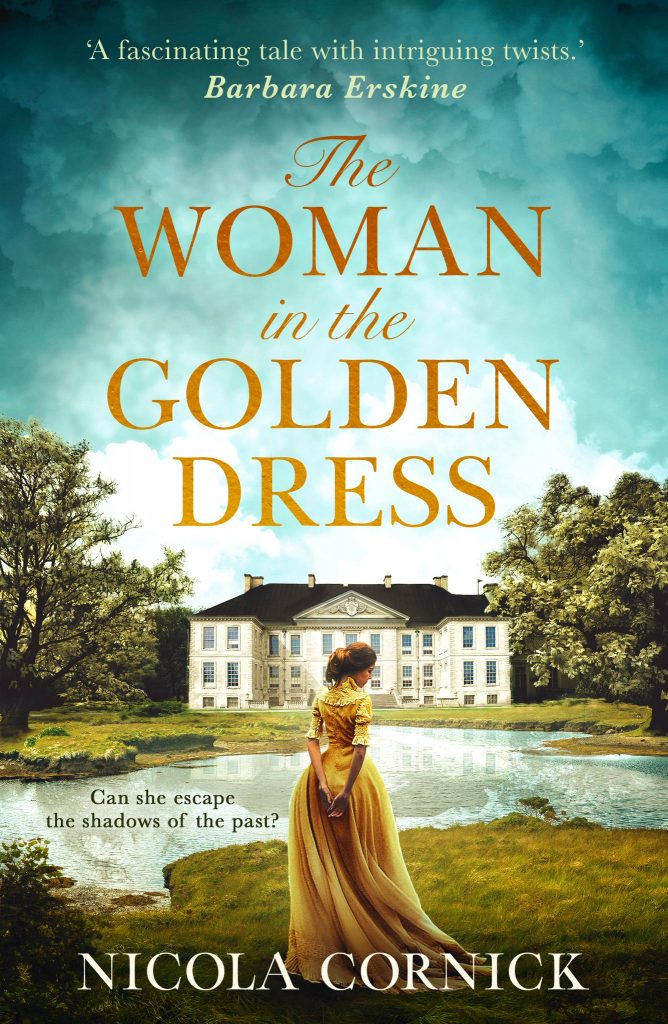 Book cover - the woman in the Golden Dress by Nicola Cornick