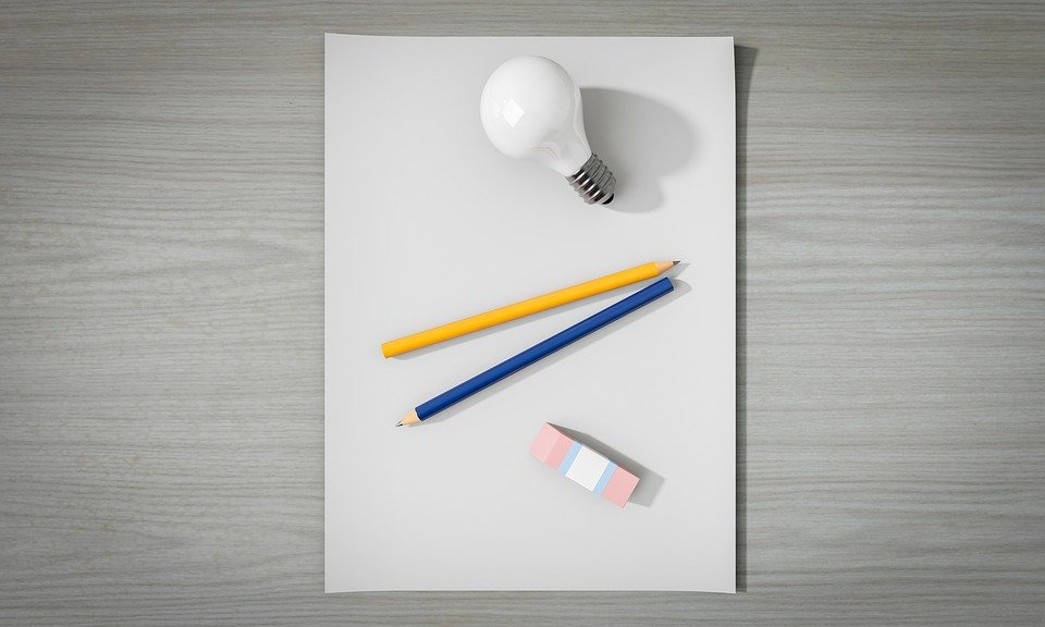 THE COTSWOLD CHALLENGE COMES TO SWINDON! - light bulb, pencils, eraser on desk top