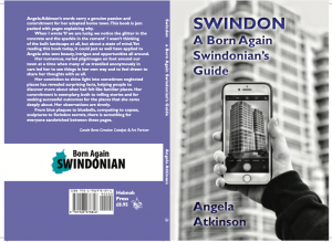 Swindon: A Born Again Swindonian's Guide - front and back covers of a book
