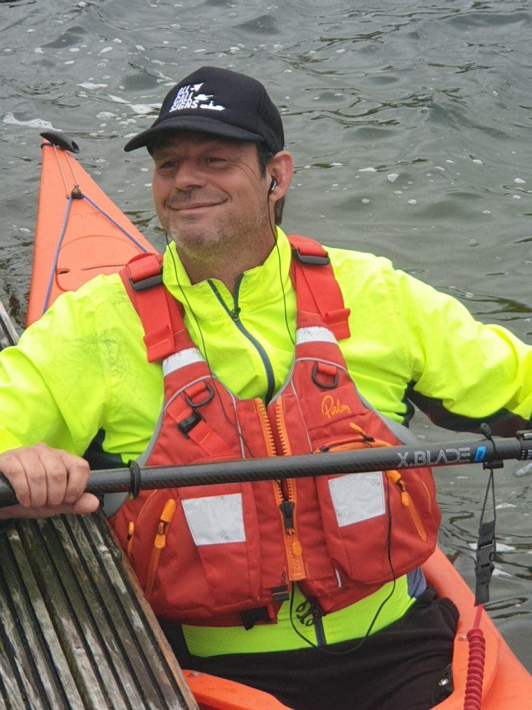 Fundraising Veteran Paddles His Own Canoe -  graham stobbs in his kayak