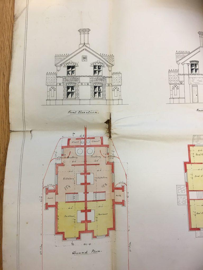 Thomas Turner Swindon Brick-maker - architect plans for the Drove Road villas in Swindon.
