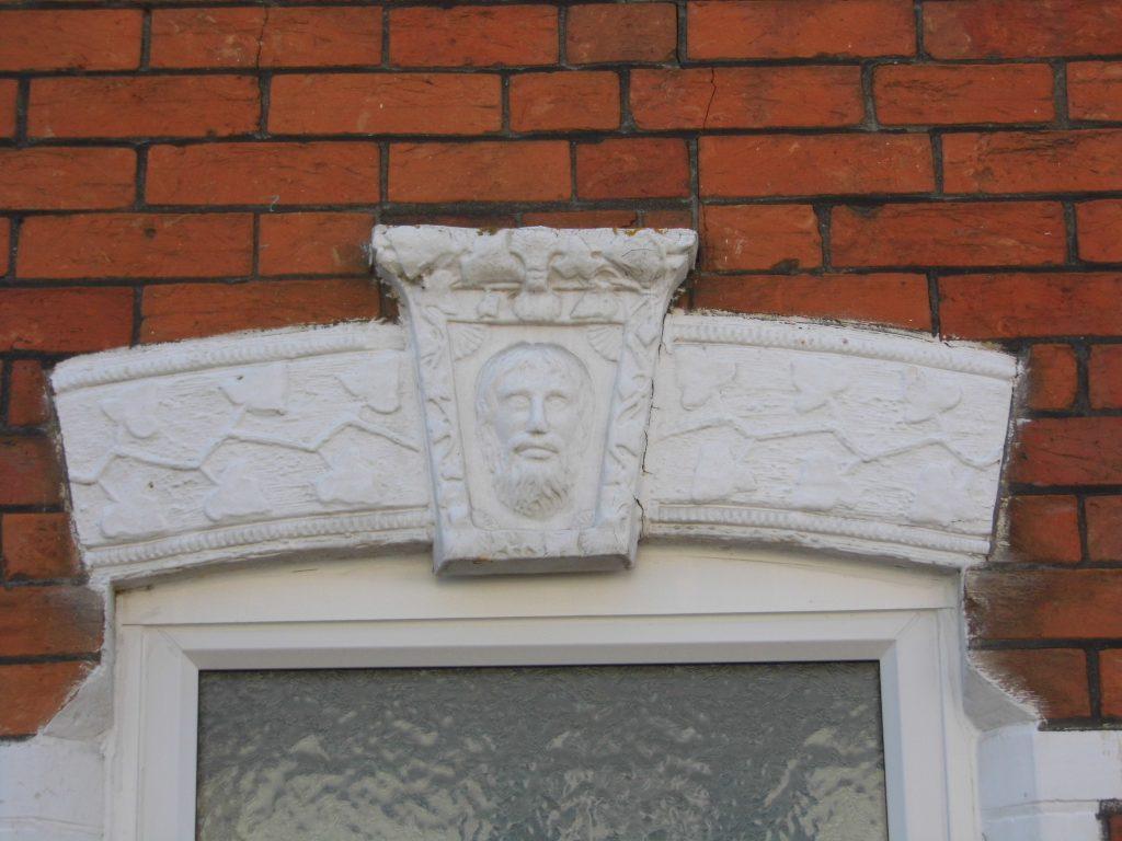 Detail above door