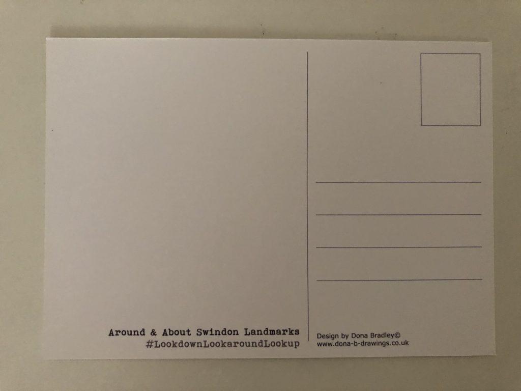 Underside of dona bradley postcard