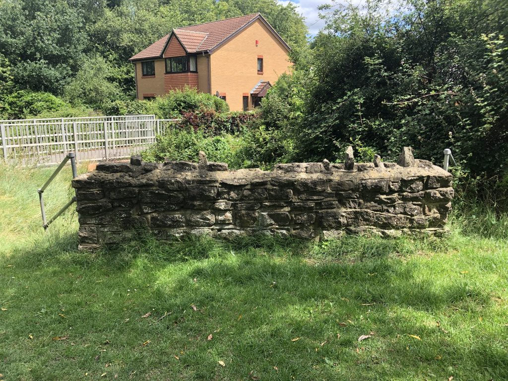 remnants of old wall