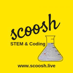 Scoosh - labaratory flask on yellow background - my fave swindon businesses