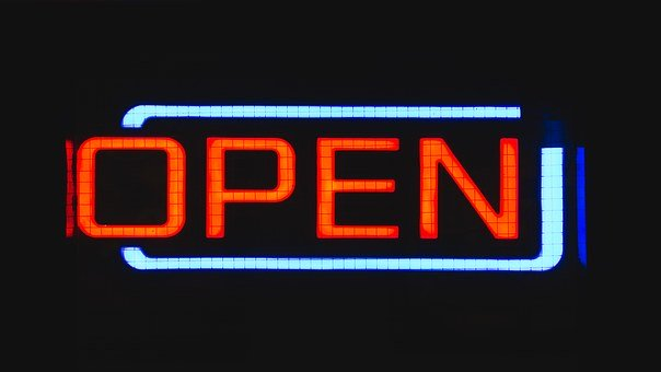 My vave Swindon Businesses - neon OPEN sign