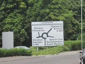 Swindon Roundabouts: Part 1 - supermarine roundabout sign