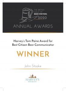 John's gold award certicate