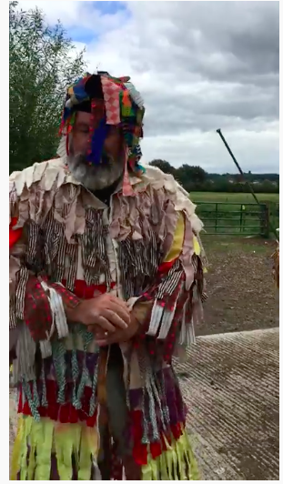 The Wiltshire Mummers' Play - screenshot from the YouTube video of the Potterne Boys