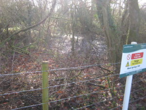 Royal Wootton Bassett Mud Springs warning sign