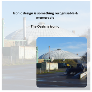 Iconic Swindon Structures and Buildings - graphic of the oasis