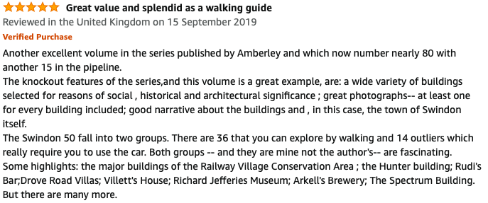 Review of Swindon in 50 Buildings taken from Amazon