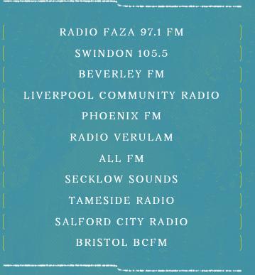 List of participation radio stations.