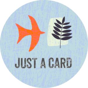 Shop Small and Shop Local - Just a card logo