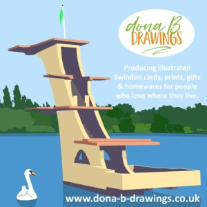 Shop Small and Shop Local - coate water diving board by Dona Bradley