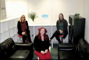 Platform Project celebrates growth  - Sadie sharp with Michelle and Alison