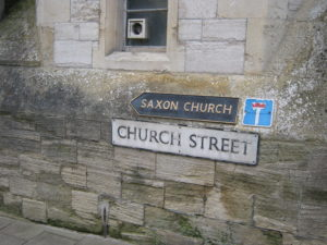 signage - to the Saxon church